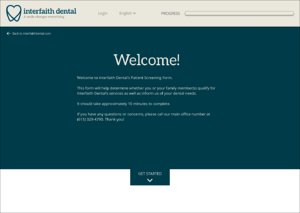 Interfaithpatient.com - Homepage Design