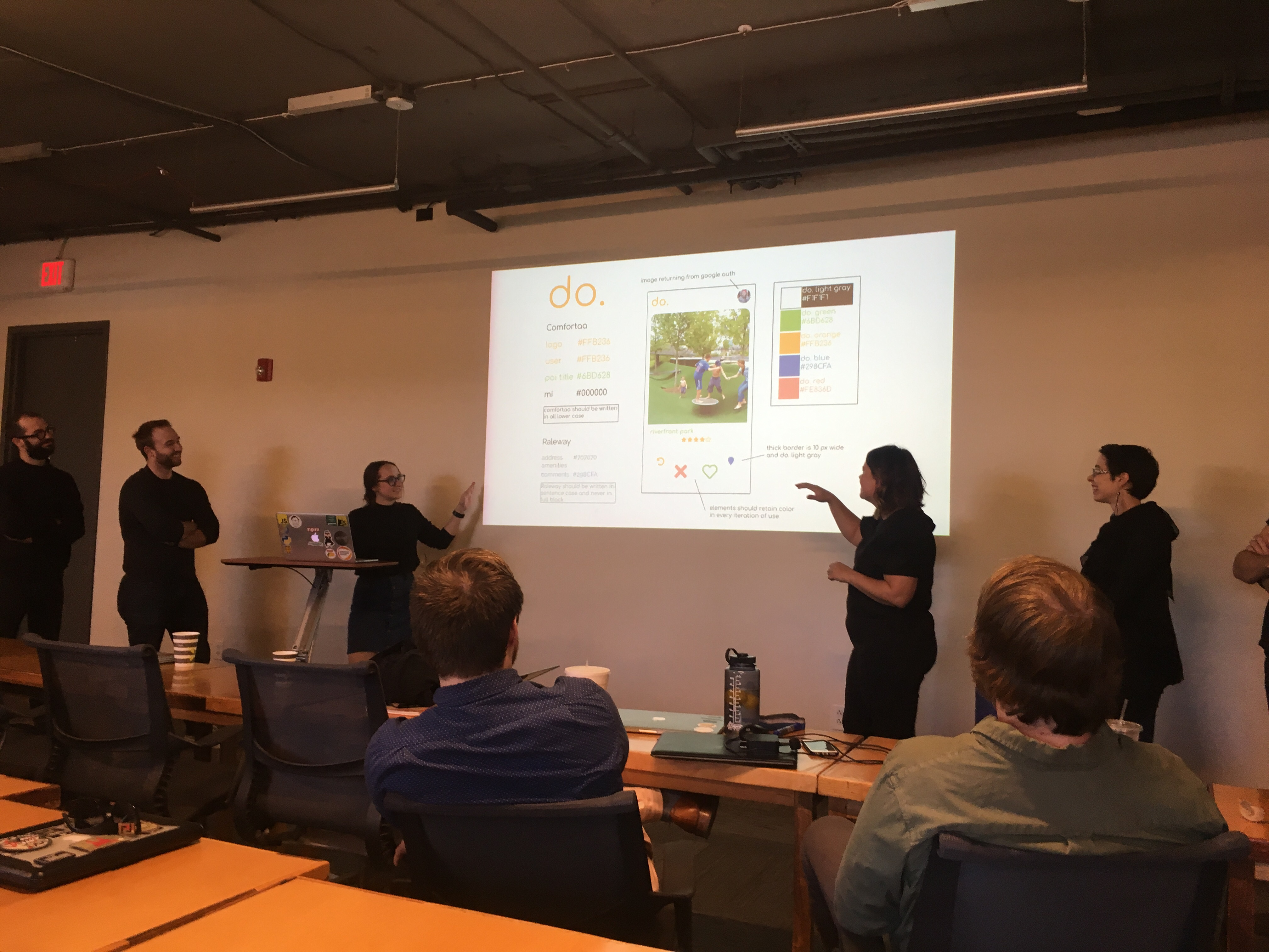 Team do. presenting