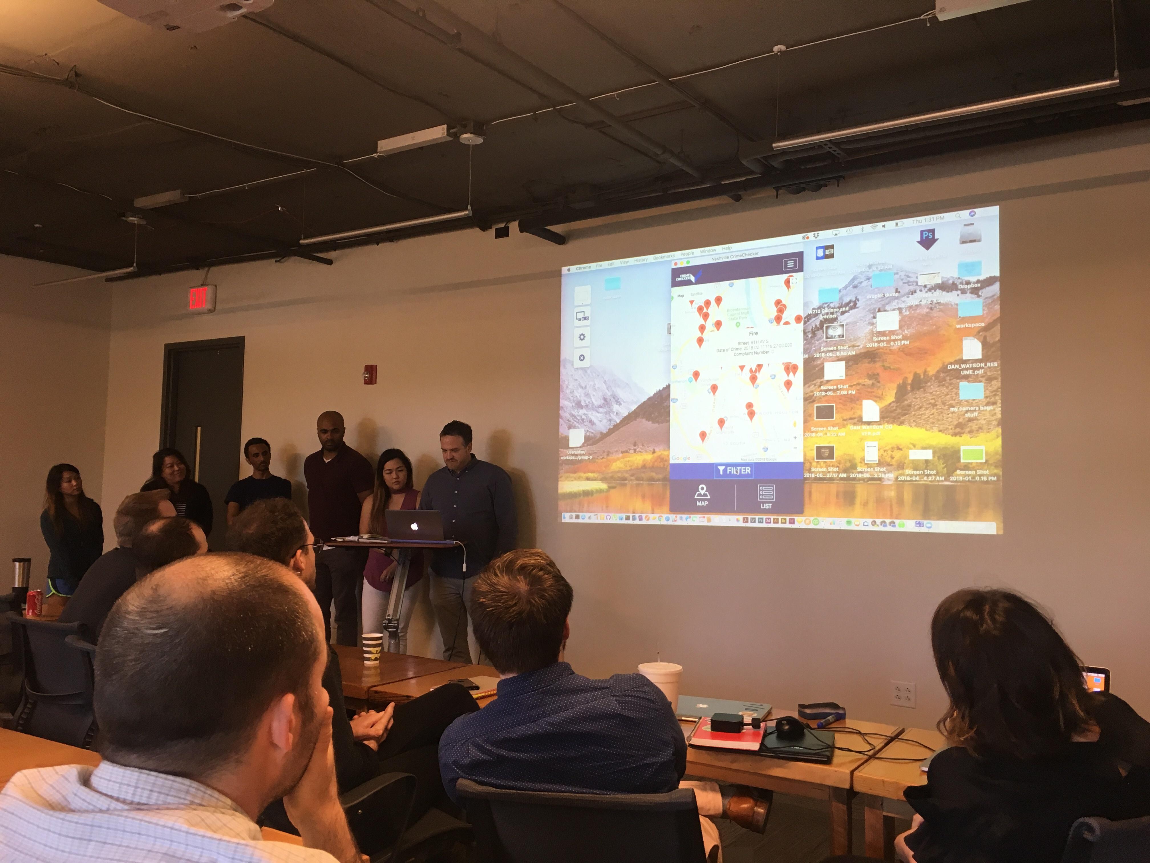 Team Crime Checker Presenting